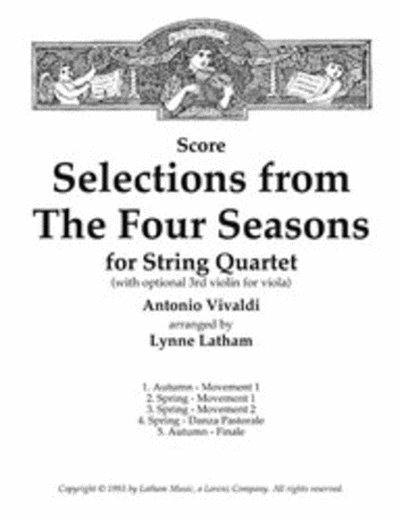 Selections from The Four Seasons for String Quartet - Score