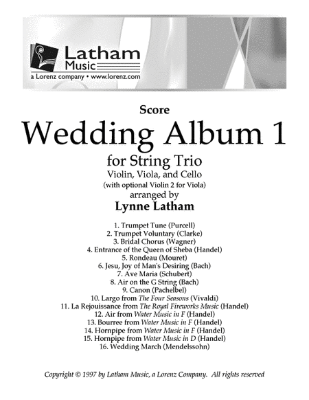 Wedding Album 1 for String Trio - Score