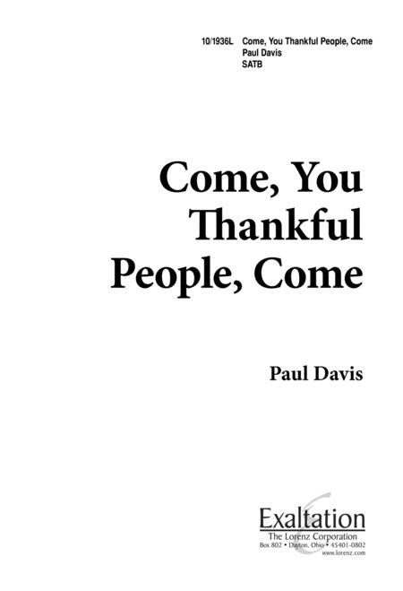 Come, You Thankful People, Come