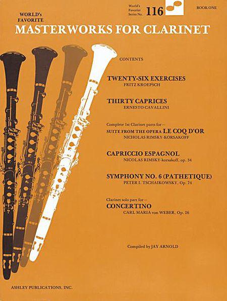 Masterworks For Clarinet Book 1 116 Worlds Favorite