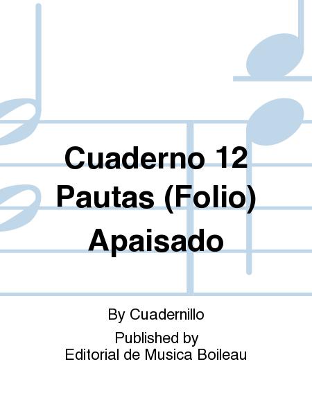 Cuaderno 12 Pautas (Folio) Apaisado