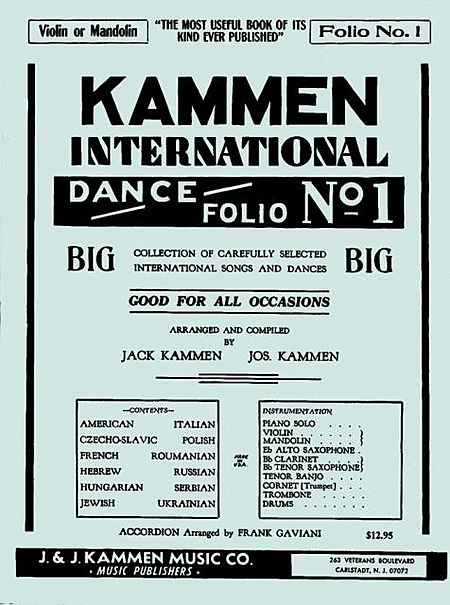 Kammen International Dance Folio 1 Guitar Or Violin Mandolin