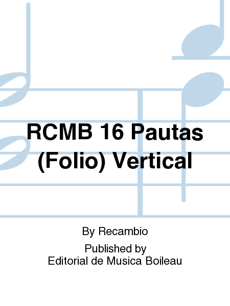 RCMB 16 Pautas (Folio) Vertical