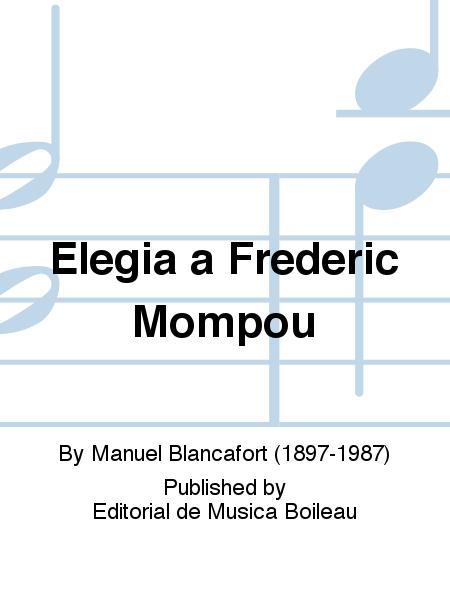 Elegia a Frederic Mompou