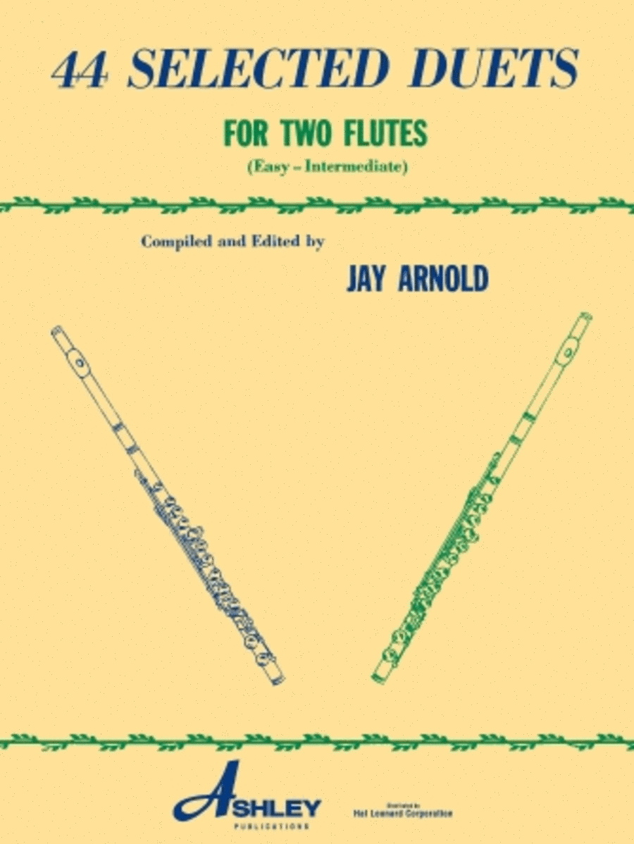 44 Selected Duets for Two Flutes - Book 1