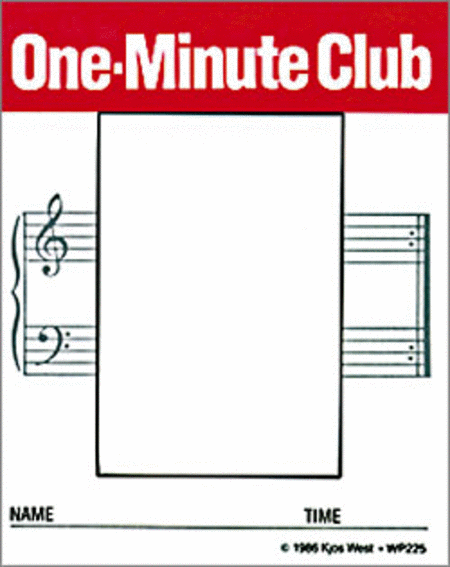 One-Minute Club Cards
