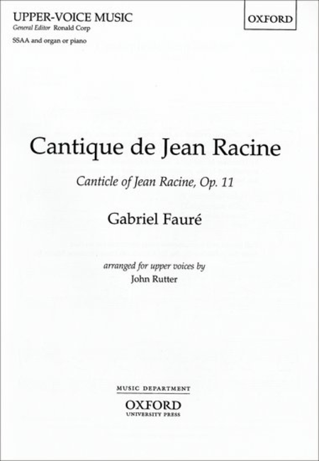 Cantique De Jean Racine (French & English)