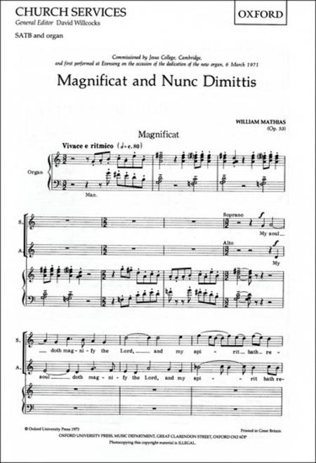 Magnificat and Nunc Dimittis (Op. 53)