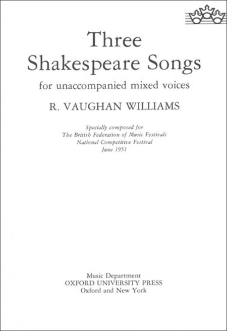Three Shakespeare Songs