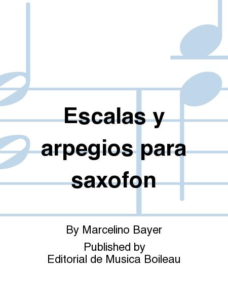 Escalas y arpegios para saxofon