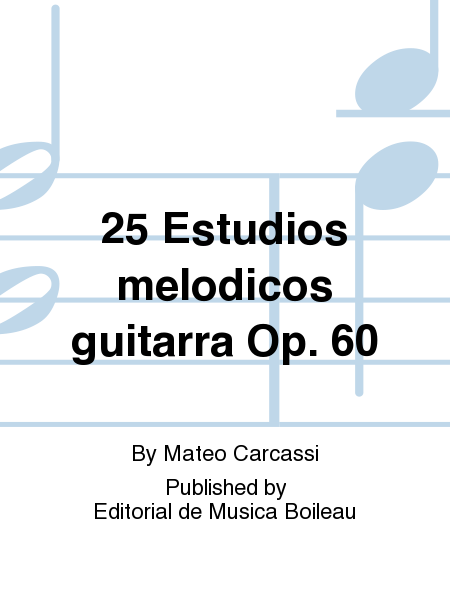25 Estudios melodicos guitarra Op. 60