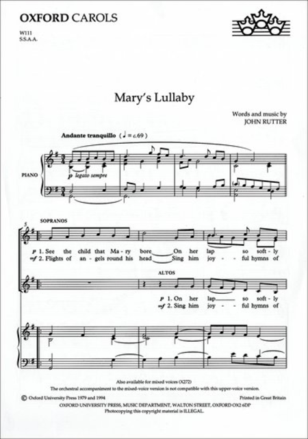 Mary's Lullaby