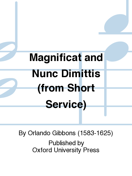 Magnificat and Nunc Dimittis (from Short Service)