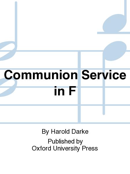 Communion Service in F