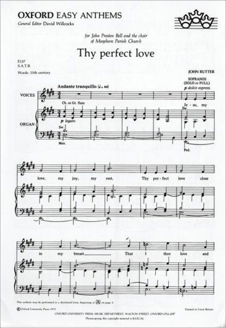 Thy perfect love