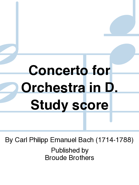 Concerto for Orchestra in D. Study score