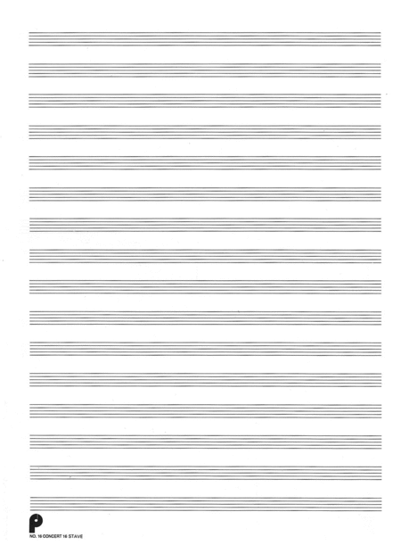 16. Manuscript Paper: 16-stave Sheet Music By Various Authors ...
