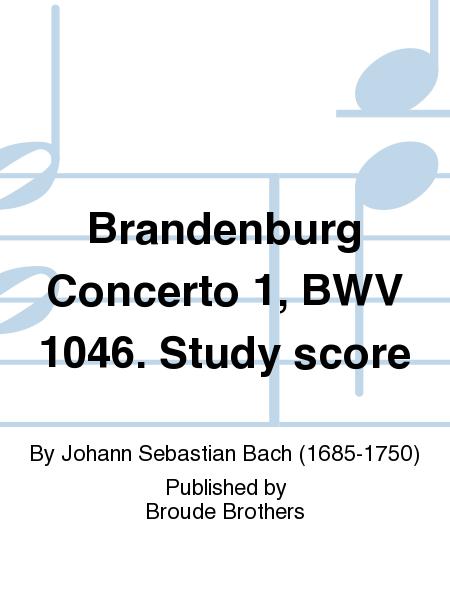 Brandenburg Concerto 1, BWV 1046. Study score