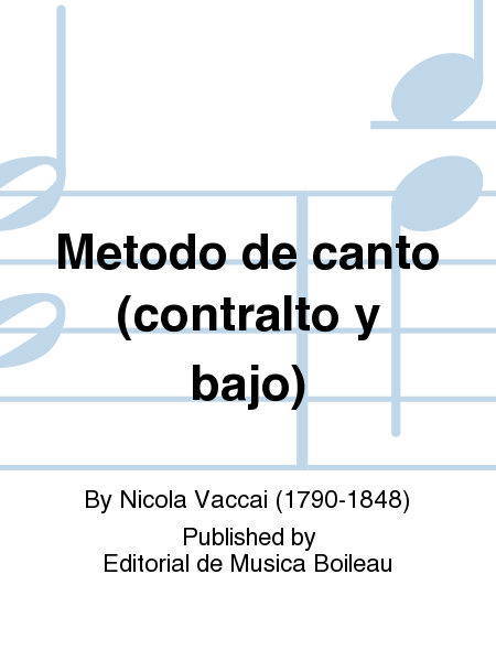 Metodo de canto (contralto y bajo)