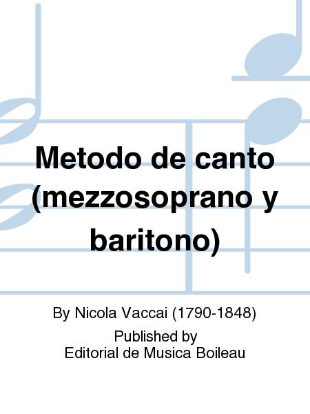 Metodo de canto (mezzosoprano y baritono)