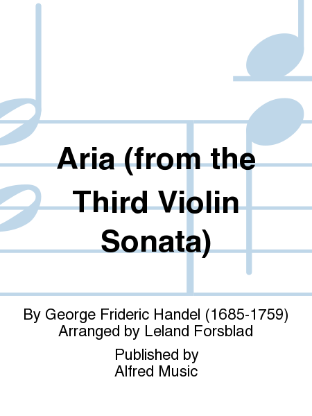 Aria (from the Third Violin Sonata)