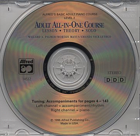 Alfred's Adult All-in-One Piano Course - Level 2 (CD)