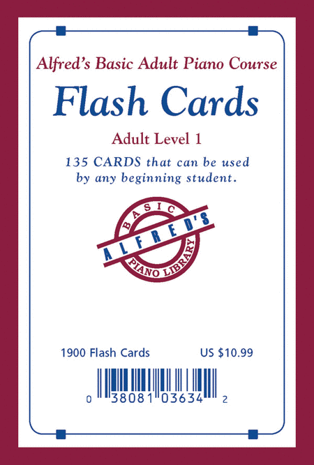 Alfred's Basic Adult Piano Course Flash Cards