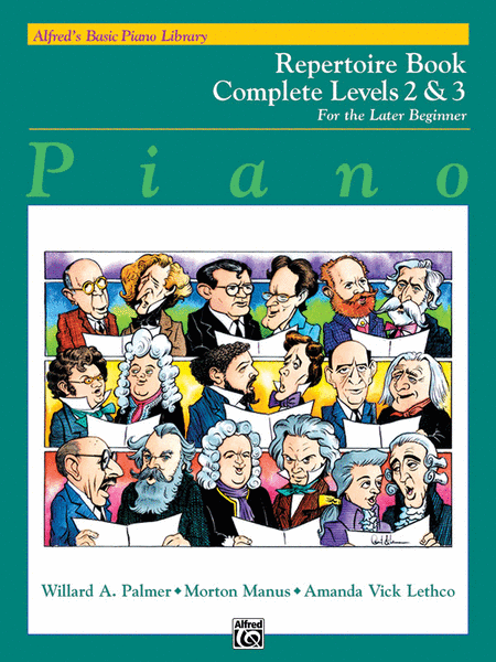 Alfred's Basic Piano Course - Repertoire Book Complete Levels 2 & 3