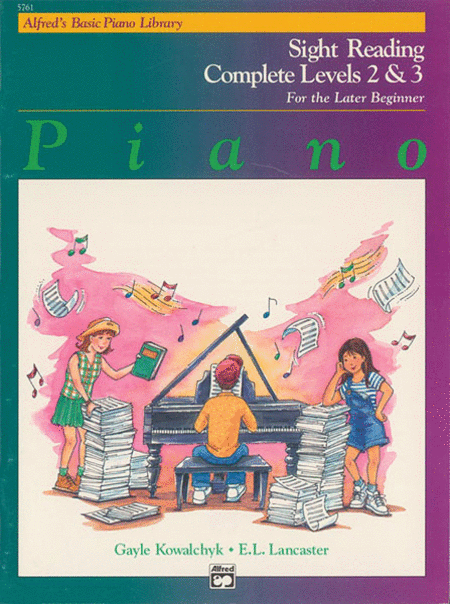 Alfred's Basic Piano Course - Sight Reading Book Complete Levels 2 & 3