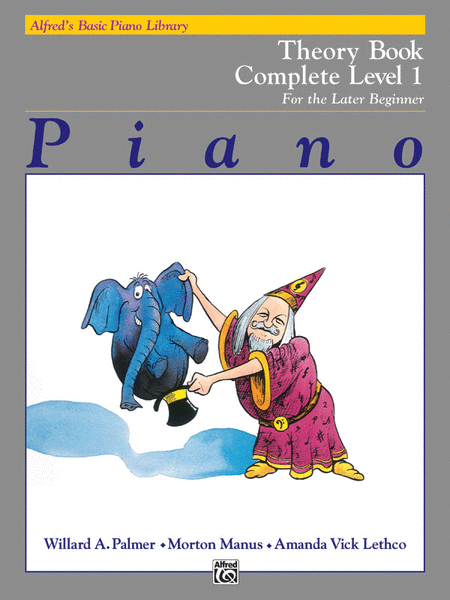 Alfred's Basic Piano Course - Theory Book - Complete Level 1 (1A/1B)