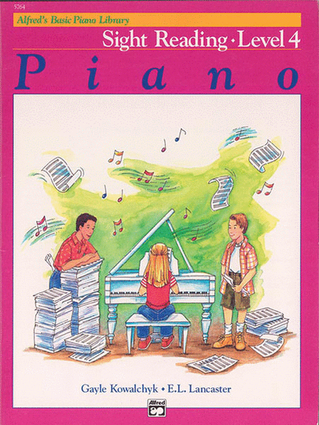 Alfred's Basic Piano Course - Sight Reading Book 4