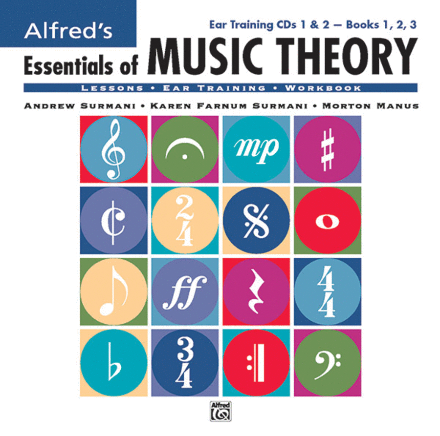 Alfred's Essentials of Music Theory - Ear Training Books 1-3 (CDs)