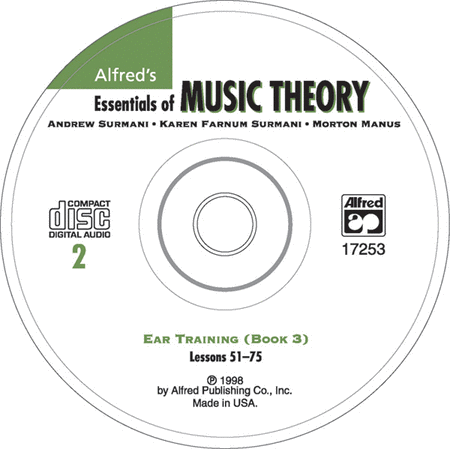 Alfred's Essentials of Music Theory: Ear Training CD 2 (for Book 3)