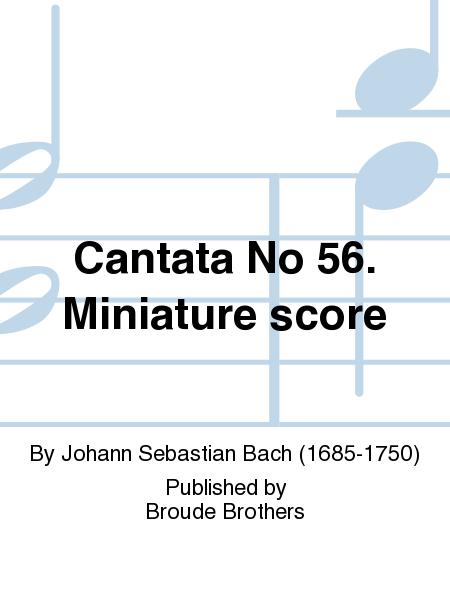 Cantata No 56. Miniature score
