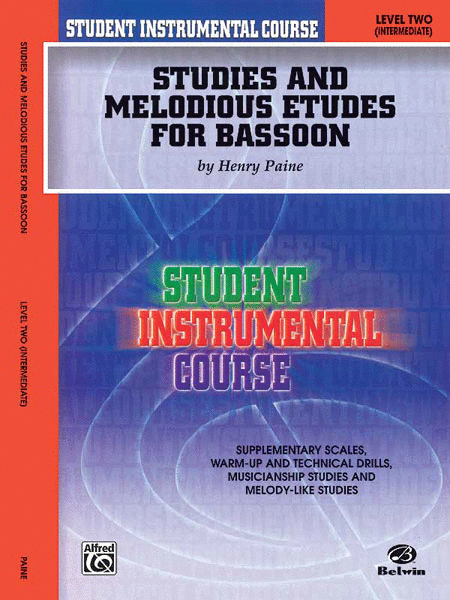 Student Instrumental Course Studies and Melodious Etudes for Bassoon