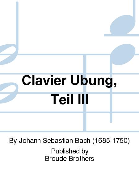 Clavier Ubung, Teil III