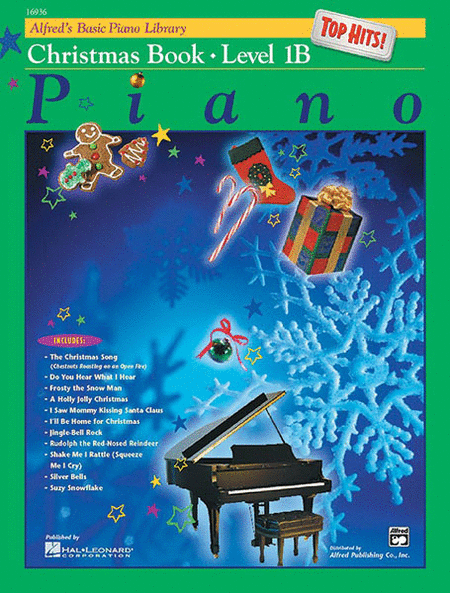 Alfred's Basic Piano Course - Top Hits! Christmas Book Level 1B