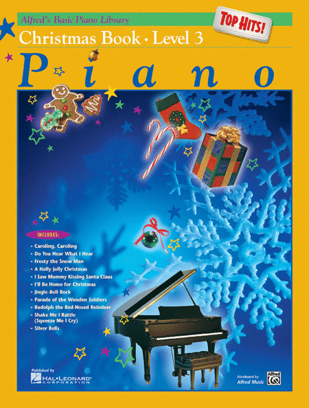 Alfred's Basic Piano Course: Top Hits! Christmas Book 3