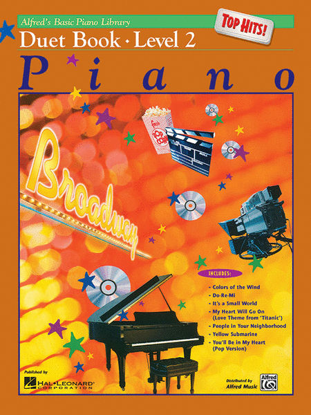 Alfred's Basic Piano Course - Top Hits! Duet Book, Book 2
