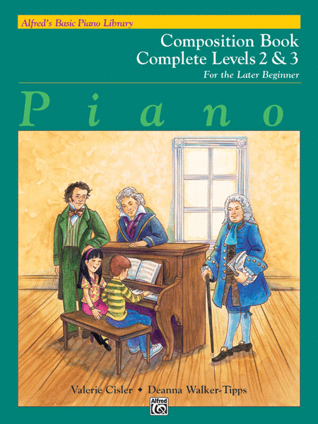 Alfred's Basic Piano Course - Composition Book Complete Levels 2 & 3