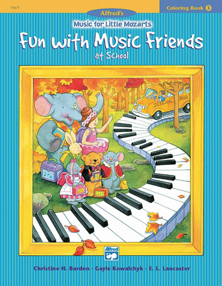 Music For Little Mozarts - Fun With Music Friends (Coloring Book 3)