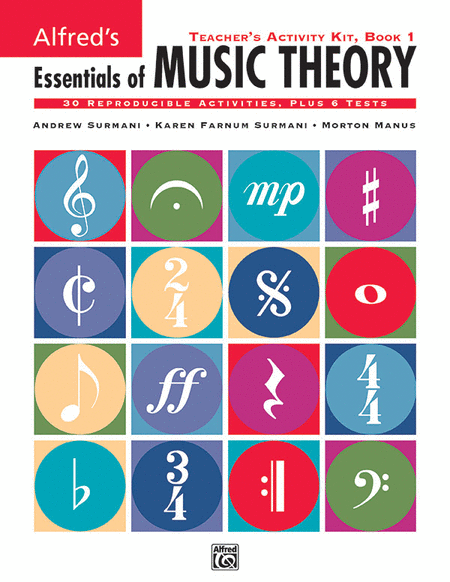 Alfred's Essentials of Music Theory - Teacher's Activity Kit (Book 1)