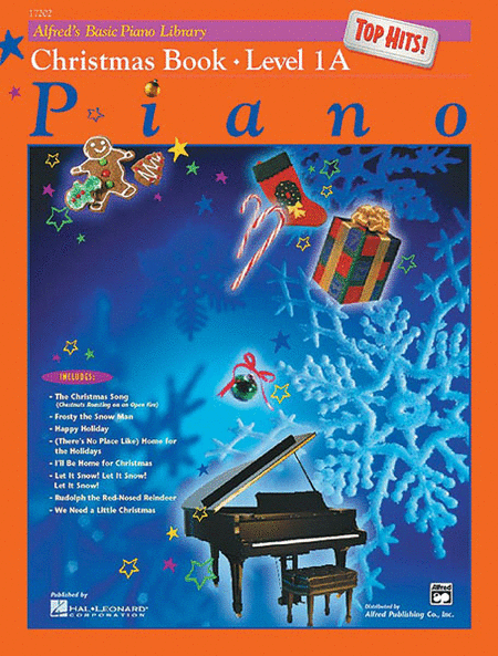 Alfred's Basic Piano Course - Top Hits! Christmas Book (Level 1A)