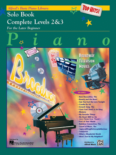 Alfred's Basic Piano Course - Top Hits! Solo Book (Complete Level 2 & 3)