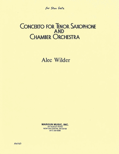 Concerto for Tenor Saxophone and Chamber Orchestra