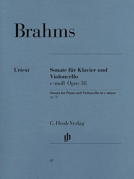 Sonata for Piano and Violoncello E minor op. 38