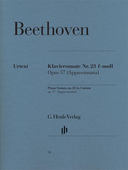 Piano sonata F minor op. 57 [Appassionata]