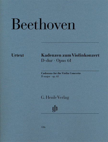 Cadenzas to Violin Concerto Op. 61