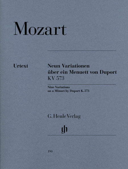 9 Variations on a Minuet by Duport K573