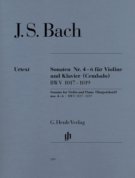 Sonatas for Violin and Piano (Harpsichord) 4-6 BWV 1017-1019